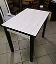 Стол кухонный раскладной обеденный Прага  урбан лайт - белый 90*60(120)*75см, фото 8