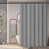 Шторка для ванной Bathlux 180 x 180 люкс качество, водонепроницаемая Бежевая, фото 2