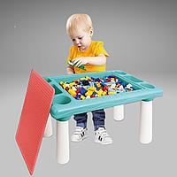 Универсальный Игровой столик с конструктором на 300 деталей 9182 ВИДИО ОБЗОР