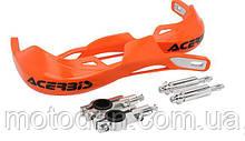 Мото защита рук ударопрочная с креплением на руль 22мм (оранжевая)  вариант 5