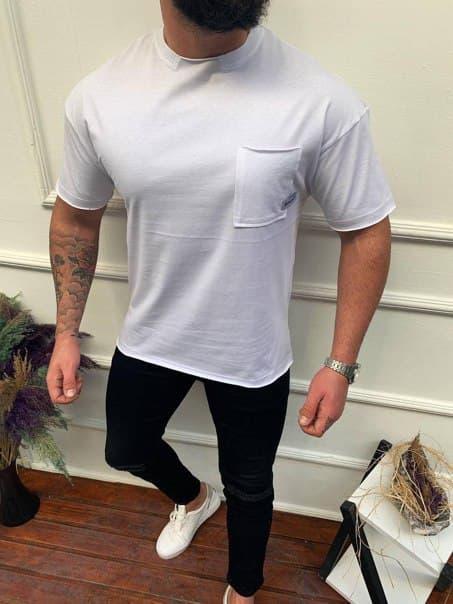 Мужская футболка Palm Angels с карманом Турция (три цвета)