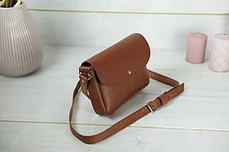Сумка жіноча. Шкіряна сумочка Мія, Шкіра Італійський краст, колір Коричневий, тиснення №2, фото 2
