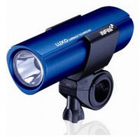 """Фара передня INFINI I-109C4 блакитний """"LUXO"""" 1W бел світлодіода; 3 режими, з кріпленням на кермо"""