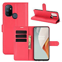 Чехол Fiji Luxury для OnePlus Nord N100 книжка красный