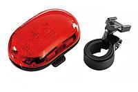 Мигалка задня Infini VISTA I-401R, 5 світлодіодів, 4 режиму, 2x AAA, с крепл.