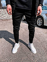 Мужские зауженные качественные джинсы черные