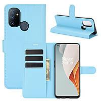 Чехол Fiji Luxury для OnePlus Nord N100 книжка голубой