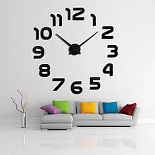Настінні 3D годинник чорні