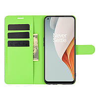 Чехол Fiji Luxury для OnePlus Nord N100 книжка зеленый