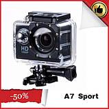 Екшн камера А7 Sport Full HD 1080P. Аналог GoPro gopro. Відеореєстратор, фото 2