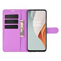 Чехол Fiji Luxury для OnePlus Nord N100 книжка фиолетовый