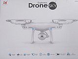 Складной квадрокоптер Sky Dron LH-X25 c WiFi и HD камерой, на пульте, радиоуправляемый коптер (летающий дрон), фото 8
