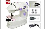 Швейная машинка mini Sewing Machine, Портативная Мини швейная машинка 4 в 1, Mini Sewing Machine, фото 9