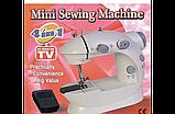 Швейна машинка mini Sewing Machine, Портативна Міні швейна машинка 4 в 1, Mini Sewing Machine, фото 10