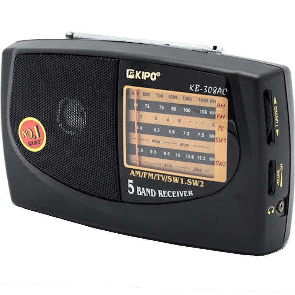 Портативний радіоприймач на батарейках KIPO kb-308ac, Fm радіоприймачі радіо