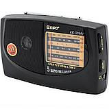 Портативний радіоприймач на батарейках KIPO kb-308ac, Fm радіоприймачі радіо, фото 4