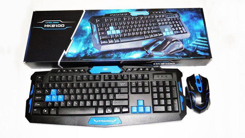 Беспроводная игровая клавиатура usb с мышь, Беспроводной набор клавиатуры и мыши keyboard hk 8100
