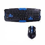 Беспроводная игровая клавиатура usb с мышь, Беспроводной набор клавиатуры и мыши keyboard hk 8100, фото 7