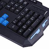 Беспроводная игровая клавиатура usb с мышь, Беспроводной набор клавиатуры и мыши keyboard hk 8100, фото 8