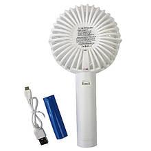 Вентилятор Fan apple на аккумуляторе. Портативный ручной или настольный мини вентилятор с USB
