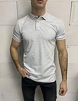 Мужская футболка-поло серая Crown, фото 1