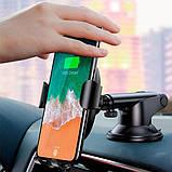Автомобільний тримач і бездротова зарядка Baseus Metal Wireless, фото 9