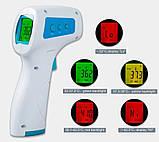 Бесконтактный инфракрасный цифровой термометр медтехника. Детский медицинский градусник JJT889, фото 4