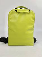 Жіночий рюкзак для ноутбука середній з екошкіри зелений M83x7