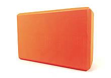 Кирпич для йоги (йога блок) OSPORT (FI-3048) Оранжевый