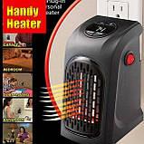 Портативный тепловентилятор дуйчик Handy Heater, электрообогреватель для дачи зимой, мини обогреватель, Rovus, фото 7