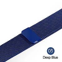 Браслет Миланская петля для Apple Watch 42/44 mm синий