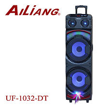 Акумуляторна колонка валізу Ailiang UF-1032-DT, бездротова 10 дюймова акустика, комбопідсилювач