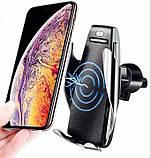 Автомобильный держатель для телефона сенсорный, Penguin Smart Sensor S5 QI c беспроводной зарядкой, фото 6