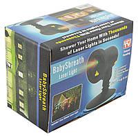 Лазерный проектор для дома Вaby sbreath laser light FA1802 новогодний. Векторный лазерный проектор уличный