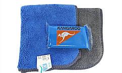 Синяя голубая глина KANGAROO (Cleaner Clay) для очистки кузова авто 100 гр. + салфетка из микрофибры