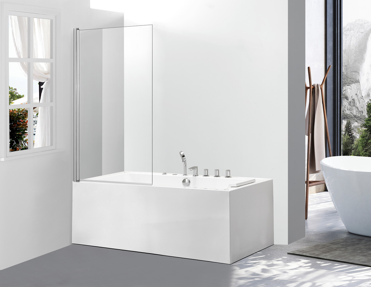 Скляна шторка для ванни AVKO Glass 542 70х140см Clear