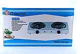 Электроплита двухконфорочная спираль MS-5802, Настольная электроплитка, Плита электрическая мощная, фото 3