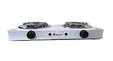 Электроплита двухконфорочная спираль MS-5802, Настольная электроплитка, Плита электрическая мощная, фото 4