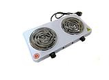 Электроплита двухконфорочная спираль MS-5802, Настольная электроплитка, Плита электрическая мощная, фото 5