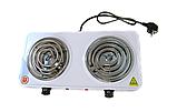 Электроплита двухконфорочная спираль MS-5802, Настольная электроплитка, Плита электрическая мощная, фото 6