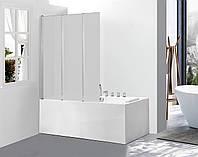 Скляна шторка для ванни AVKO Glass 542-3 120х140 Frosted
