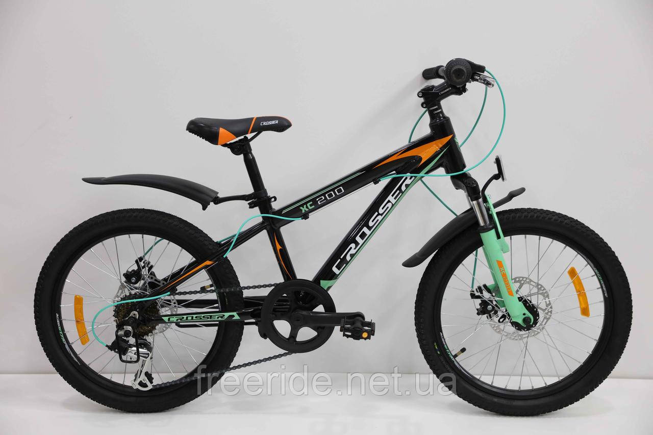 """Детский спортивный велосипед Crosser Boy 20"""" (11) XC-200"""