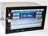 Автомагнітола з USB-вхід 2din з ауксом, камерою заднього виду, з пультом на кермо 7022CRB BT екраном 7 дюймів, фото 6