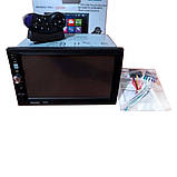 Автомагнітола з USB-вхід 2din з ауксом, камерою заднього виду, з пультом на кермо 7022CRB BT екраном 7 дюймів, фото 8