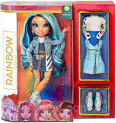 Лялька блакитна Мосту Скайлер Бредшоу Rainbow High Skyler Bradshaw Blue Cl Fashion Doll with 2 Outfits MGA