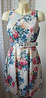 Платье женское шикарное легкое летнее мини бренд Darling р.44-46 4509