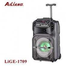 Аккумуляторная беспроводная колонка чемодан Ailiang LiGE-1709, портативная Bluetooth акустика, сабвуфер
