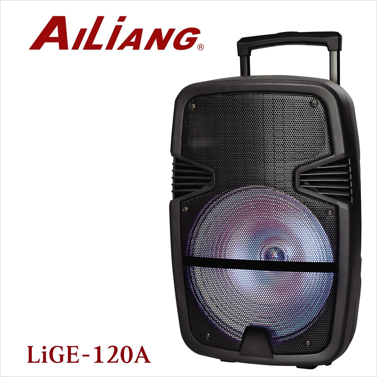 Аккумуляторная колонка чемодан Ailiang LiGE-120A, беспроводная 8 дюймовая акустика, комбоусилитель