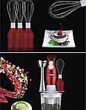 Універсальний блендер занурювальний з насадками і чашею 4в1 DSP KM1004, міксер, подрібнювач з функцією колки, фото 9