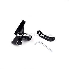 Держатель для телефона алюминиевый крепления под зеркало, черный, USB, фото 2